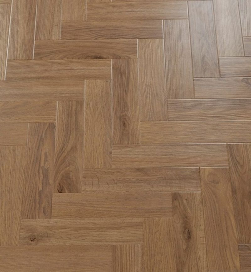 Green-Flor PVC GWF055 Modern Vintage Visgraat Oak Gold Brown