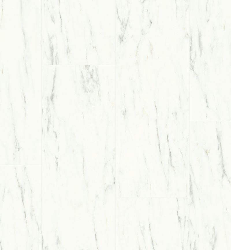 Quick Step Livyn Ambient Click AMCL40136 Carrara Marmer Wit