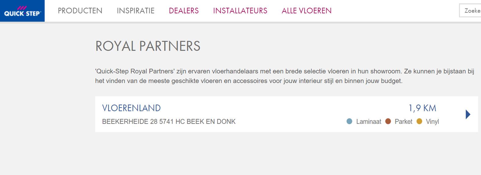 Vloerenland - Royal Quick-step dealer